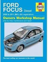 Haynes Manual Ford Focus 2005-09 1.6 1.8 2.0 Diesel Workshop Manual